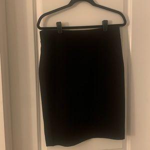J Crew Black Wool Pencil Skirt